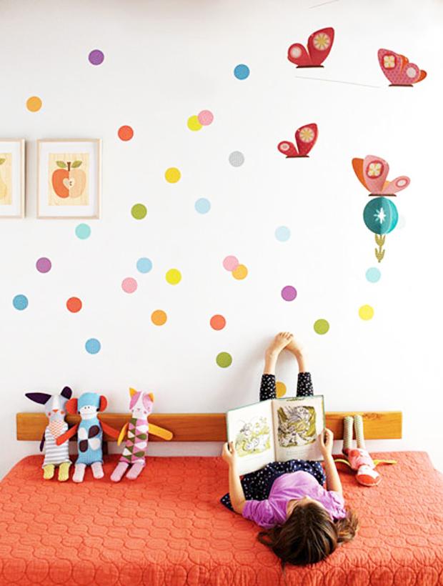 Decoração de quarto infantil – Papel de paredeDIY