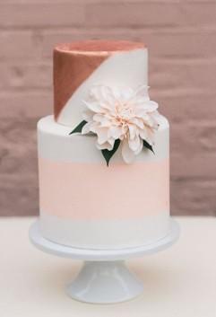 pink-copper-wedding-cake