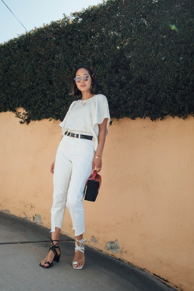 Aimee_Song_of_style_white_denim_rachel_comey_top_topshop_jeans_wicker_bag_celine_sandals_dior_so_real_sunglasses