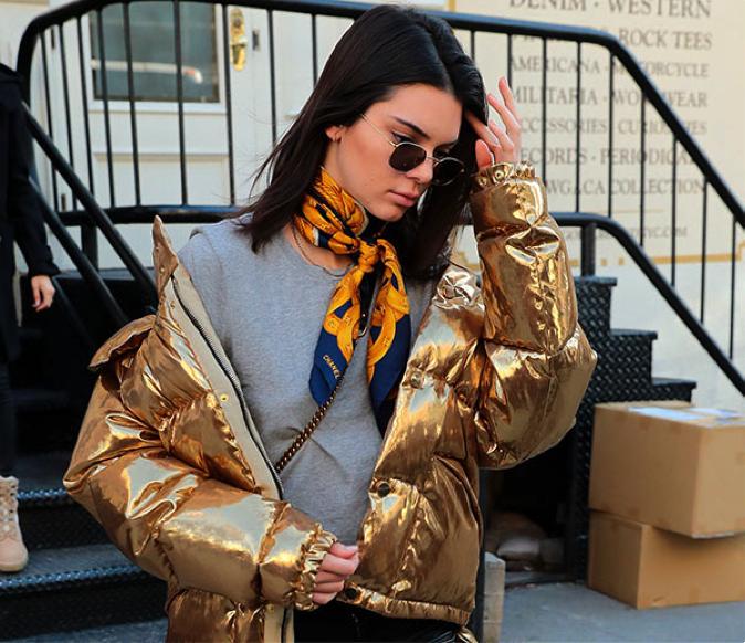 kendall-jenner-golden-puffer-jacket