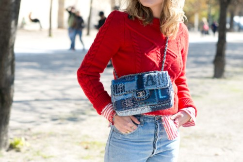 PARIS, FRANCE - OCTOBER 1: Fashion Buyer Annabel Rosendahl wears an Isabel Marant sweater, Levi jeans, and a Chanel bag on day 3 during Paris Fashion Week Spring/Summer 2016/17 on October 1, 2015 in London, England. (Photo by Kirstin Sinclair/Getty Images)*** Local Caption *** Annabel Rosendahl